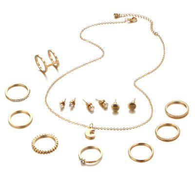 New Style Necklace Simple Ear Nail Fashion Ring Suit