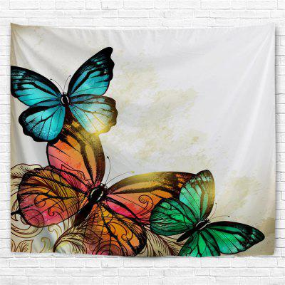 Red Yellow Green Butterfly 3D Printing Home Wall Hanging Tapestry for Decoration green lake 3d printing home wall hanging tapestry for decoration