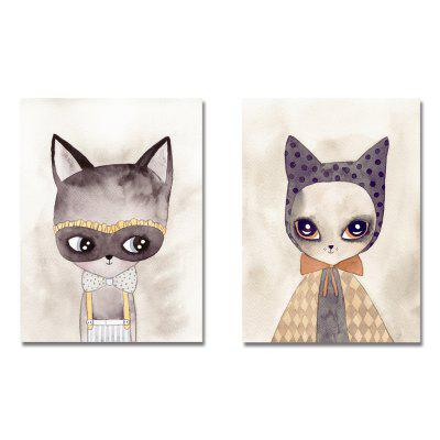 DYC11199 - bc-10-86-87 2PCS Lovely Cat Star Print Art
