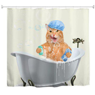 Fat Cat Bath Water-Proof Polyester 3D Printing Bathroom Shower Curtain gappo bathtub faucet white bath tub faucet shower mixer taps rain shower faucets bath shower head bathroom faucet mixer bath tap