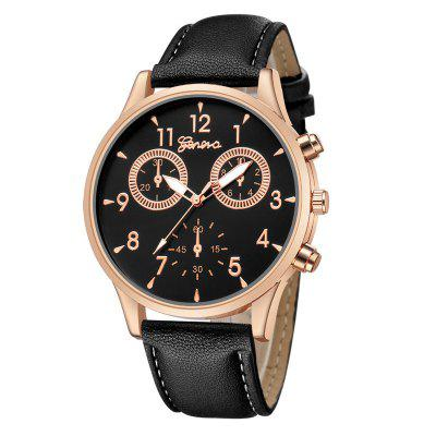 Men Leather Strap Military Watches