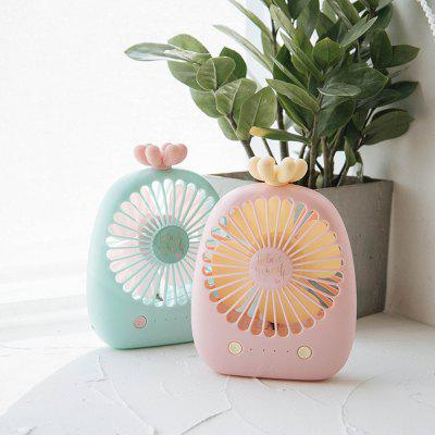 Rechargeable Cute Shape Mini Portable Desktop Type Stylish Silent Fan туалетная вода geparlys туалетная вода elegant gold men линии johan b