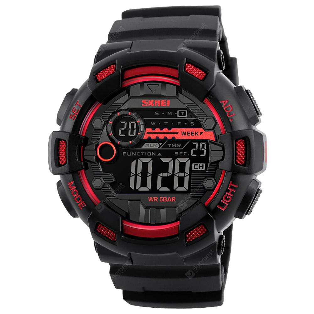SKMEI Men Sports Back Light LED Digital Chronograph Shock Double Time Watch
