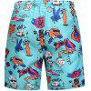 Men's Summer 3D Casual Beach Quick Drying Swim Shorts - MULTI
