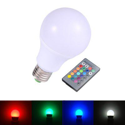 OMTO E27 RGBW 90-240V 3W 5W 9W with Remote Control LED Bulb Lamp Light 16 Colors босоножки