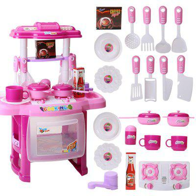 Music Children Educational Lighting Music Cooking Table Across The Kitchen Toys