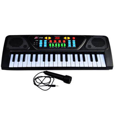 Electronic Organ Musical Keyboard Toy 37 Key Kids Piano with Microphone