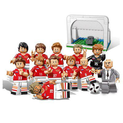 World Cup Toys Football Team Sports Figures Building Blocks Compatible 12PCS 3069pcs grand opera set compatible legoinglys classic big building blocks for toddlers clever blocks construction toys for kids