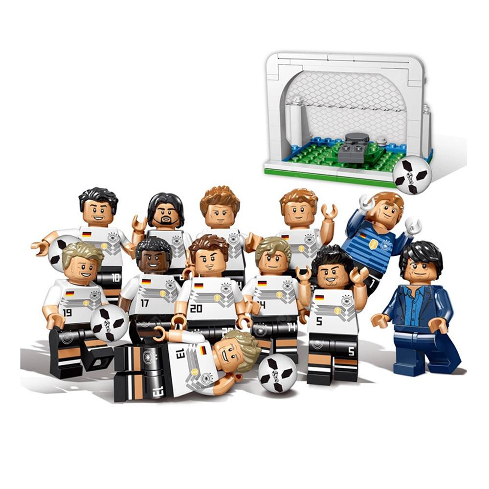 World Cup Toys Football Team Sports Figures Building Blocks Compatible 12PCS - WHITE