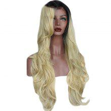 T Colou Front Lace Chemical Fiber Wig Gold Head Cover