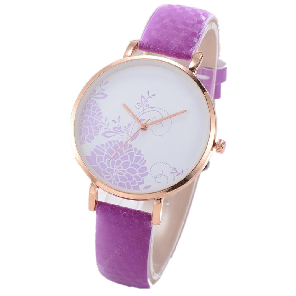 XR2467 Women Color Changeable PU Band Quartz Wrist Watch without Scale