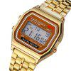 New Design Fashion Casual Simple Stainless Steel Digital Sport Watch - GOLDEN BROWN