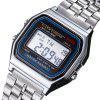 New Design Fashion Casual Simple Stainless Steel Digital Sport Watch - WARM WHITE
