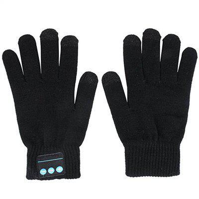 Hands Call Talking Music Touch Screen Knit Warmer Gloves for Outdoor Sports