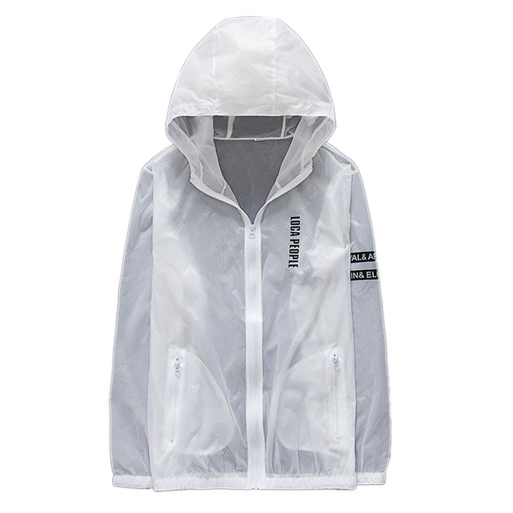 Men's Outdoor Summer Ultra-Thin Breathable Couple Skin Coat Hooded Sun Coat