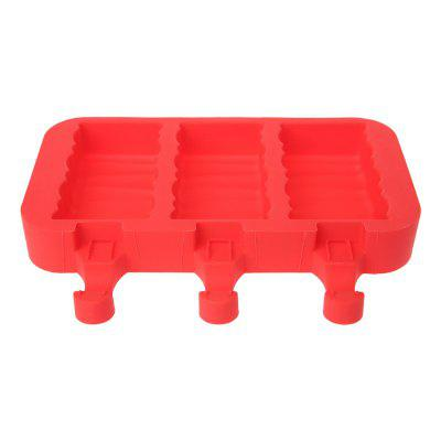 Silicone Ice Cream Mold Popsicle Molds Ice Tray Cube Tool creative yelling face style ice cube tray mold black