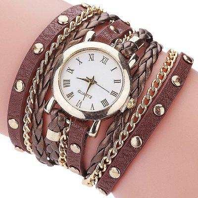 Knitted Vintage Rivet with Loop Bracelet Watch crested milanese loop strap metal frame for fitbit blaze stainless steel watch band magnetic lock bracelet wristwatch bracelet