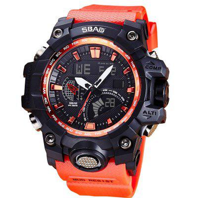 SBAO S-8005-H Men Outdoor Sports Noctilucent Waterproof Electronic Watches forsining men luxury mechanical watches men s sports tourbillon automatic watch rubber strap auto date week month calendar clock