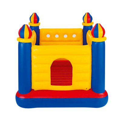 Children Inflatable Folding Small Indoor Castle Trampoline residebtial blue star bounce house inflatable trampoline for kids jumpling castle inflatable slide bouncy castle