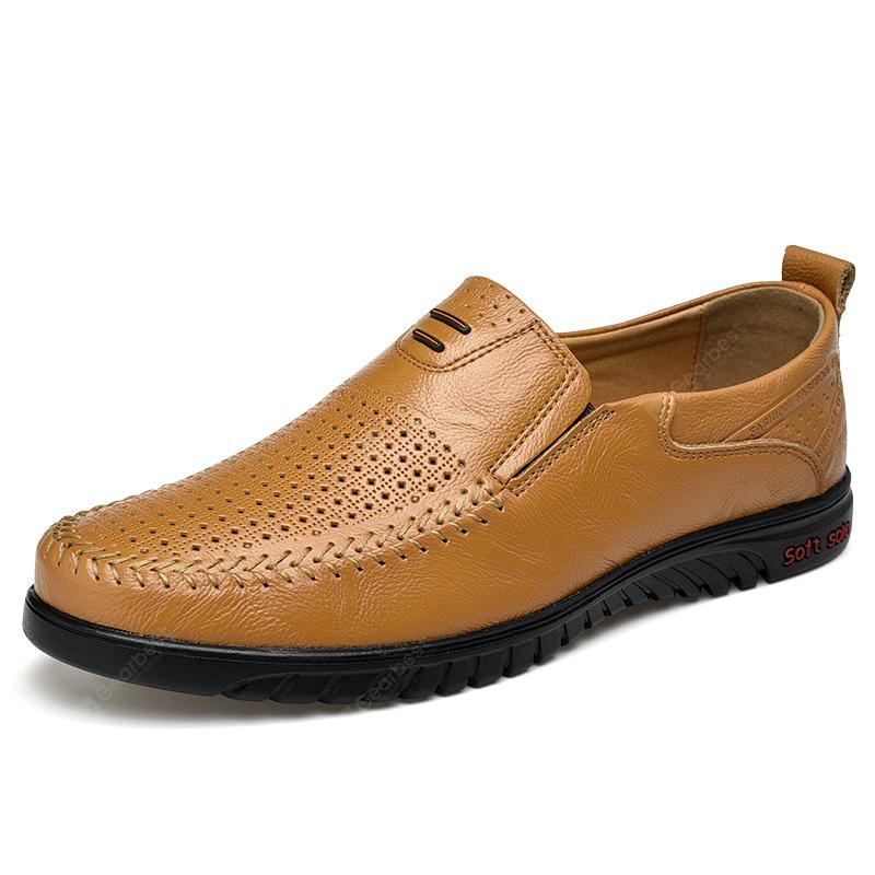 sale purchase Cowhide Fashion Hollow Breathable Comfortable Foot Set Casual Men Shoes the best store to get discount 100% authentic nnZO7