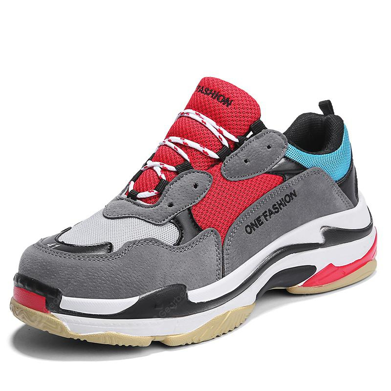 Fashion Splicing And Color Thick Bottom Sports Leisure Men Shoes