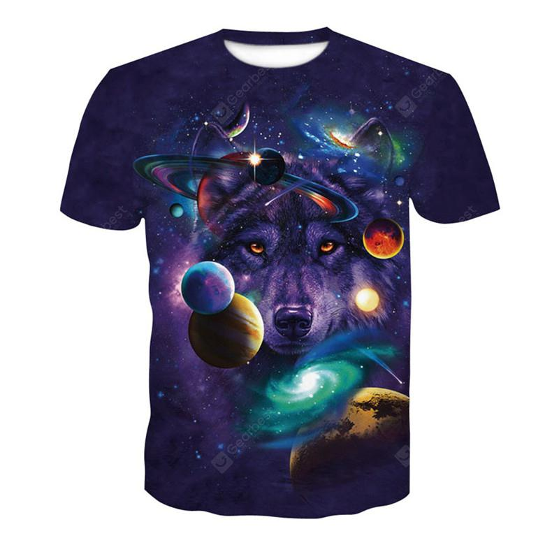 Starry Sky 3D Print Men s Casual Short Sleeve Graphic T-shirt -  11.38 Free  Shipping 8bc2602460d5