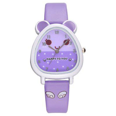 Kid's Creative Cartoon Rubber Analog Quartz Wrist Watch