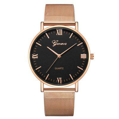 GENEVA Fashion Luxury New Design Kreatywny Duży Dial Stainless Steel Quartz Wris