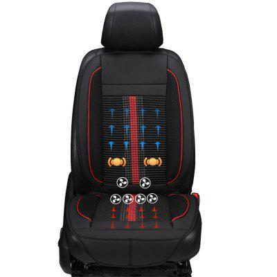 Smart 3 Levels Refrigeration Car Seat Cushion Heating Protect Cover Massage pu leather car seat cover four seasons anti slip mat car seat cushion cover universal car accessories car styling