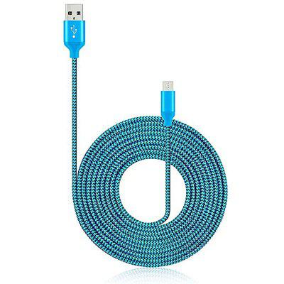 1M Micro USB Charger Cable Extension Nylon Braided