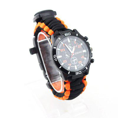 Watch with Flintstone Flint Outdoor Survival Kit Mountaineering Table Camping