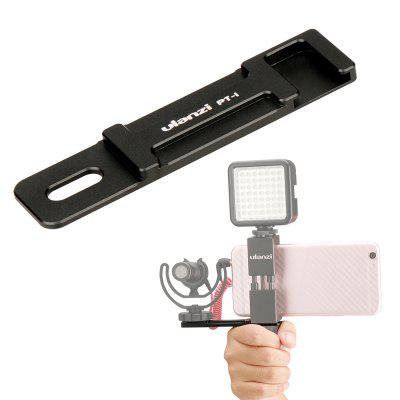 Ulanzi Microphone Cold Shoe Plate Kit for iPhone Smartphone Filmmaker Video Rig Metal Phone Tripod Mount with Hand Grip Holder