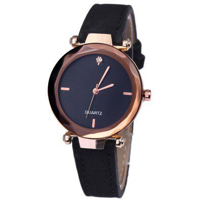 New Diamond Shaped Mirror Lady Fashion Diamond Insert Quartz Watch