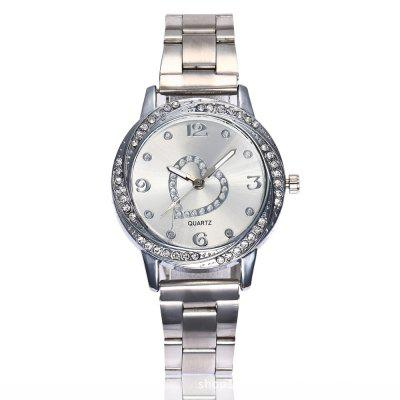 New Fashion Lady Hollow Love Business Quartz Leisure Watch
