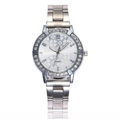New Fashion Lady Personalized Dial Steel Band Business Quartz Watch
