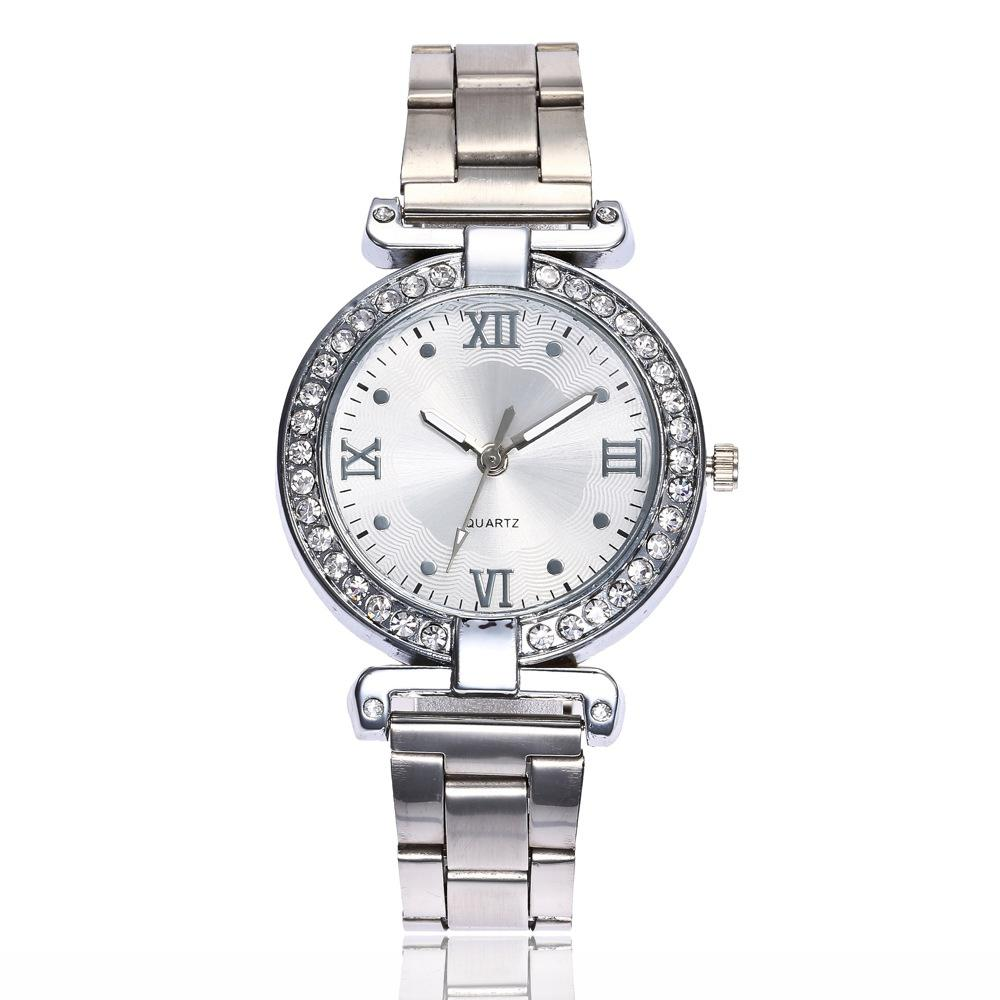 New Fashion Lady Simple Steel Belt Business Quartz Leisure Watch
