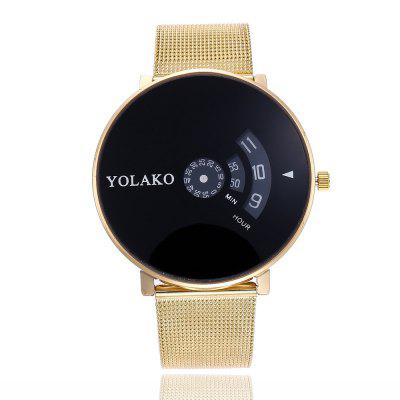New Fashion Male and Female Alloy Mesh Belt Business Large Dial Quartz Watch business casual fashion watch features diamond dial strip of male and female students in outdoor sports with retro lovers watch