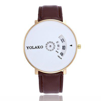 New Fashion Male and Female Belt Large Dial Business Quartz Watch business casual fashion watch features diamond dial strip of male and female students in outdoor sports with retro lovers watch