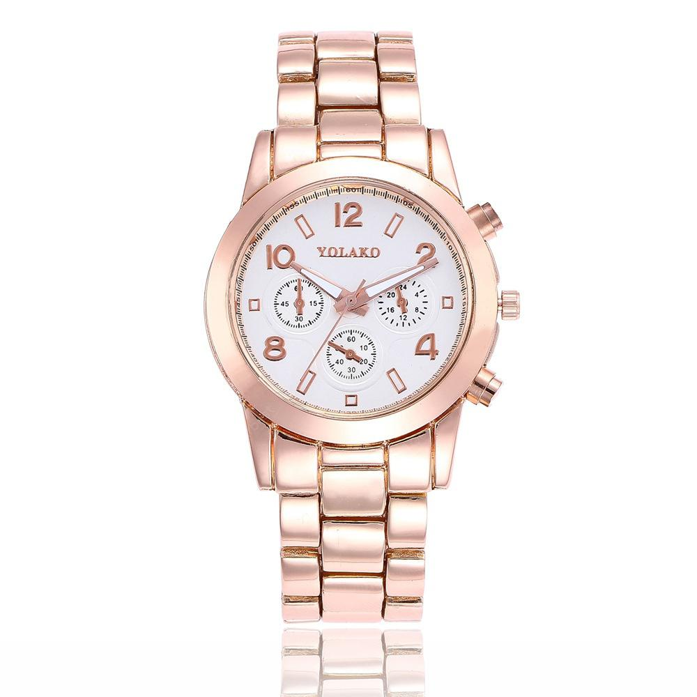 New Fashions Lady Steel Band Business Atmosphere Quartz Leisure Watch