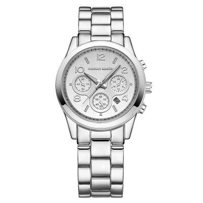 Fashion Stainless Steel Band Women Calendar Quartz Watch new luxury quartz watch men fashion classic diamond luminous watches double calendar stainless steel wristwatch men and women