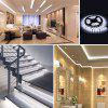 ZDM 5M  2835 LED Strip 12V/2A EU Power Adapter with 1PC Dimming Swich - COOL WHITE