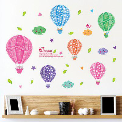 Creative Decorative Color Cartoon 3D Hot-Air Balloon Wall Sticker allenjoy backdrops for photo thin vinyl paris tower hot air balloon bike background photography photocall camera