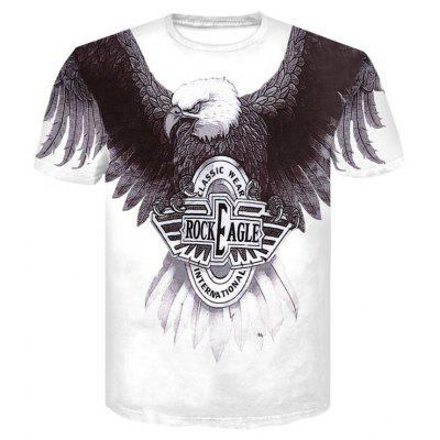 3D Fashion Eagle Print Men's Casual Short Sleeve Graphic T-shirt graphic print shirt