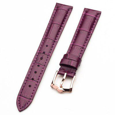Genuine Leather Watch Strap Band Brushed Steel Buckle 14MM 16MM 18MM Width