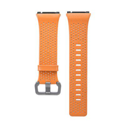 For Fitbit Ionic Smart Watch Band Genuine Leather Replacement Strap Wristband magnetic milanese loop watch band stainless steel replacement links bracelet strap for fitbit blaze smart fitness watch strap