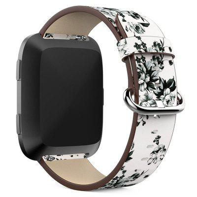 Genuine Leather Replacement Wrist Watch Band for Fitbit Versa Smart Watch new 2017 stainless steel watch band wrist strap for fitbit alta smart watch high quality 0428