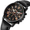 GENEVA Fashion Casual Creative Large Dial Leather Chronograph Sport Watch - BRONZE
