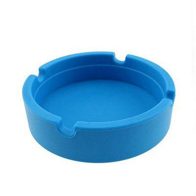Candy Color Soft Eco-Friendly Pocket Round Shatterproof Cigar Silicone Ashtray