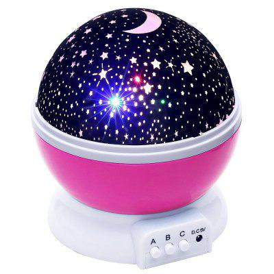 Starry Sky LED Night Light Projector Moon Lamp Battery USB Kids Gifts