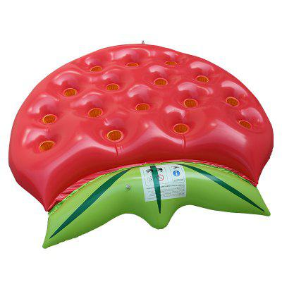 Inflatable Strawberry Floating Row Can Put Drinks Cup Water Floating Bed swimming ring angel wing inflatable floating bed pool party floating row